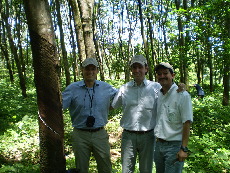 Visit to Rubber Plantation in Central America